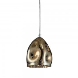 Lámpara tipo Plafón Estepa Cobre 2 Luces  25x25x11