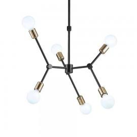 2850/6 LAMP. 6L NEGRO-ORO - SERIE ALEJANDRA