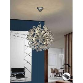 lampara NOVA transparente 8 luces DIMABLE, schuller