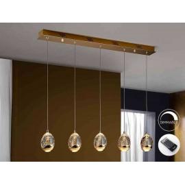 Lampara lineal 4 luces ROCIO ORO LED DIMABLE de Schuller