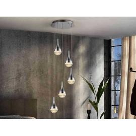 LAMPARA 5L·ELIE·CROMO Ø37 de Schuller