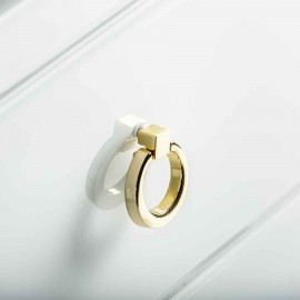 Colgante Verso 3xe27 Cuero/blanco-oro Regx40d