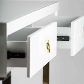 Colgante Verso 3xe27 Cuero/blanco-oro Regx60d