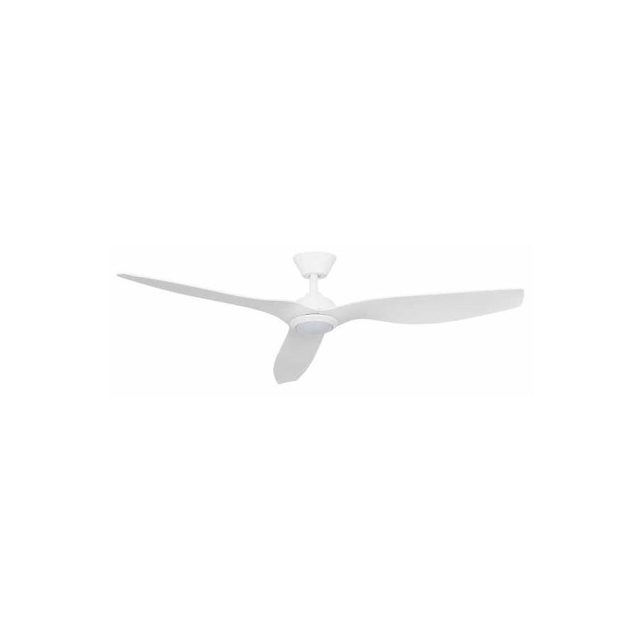 Ventilador 15w 4000k Blanco Delfos 3 Aspas Absblanco 132dx40 1500lm Control Remoto