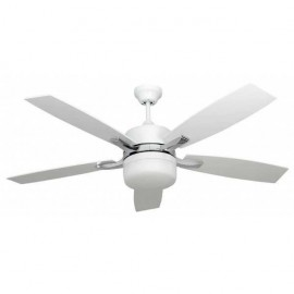 Ventilador Blanco Menfis 5 Aspas Blancas 2xe27 46x132d Control Remoto